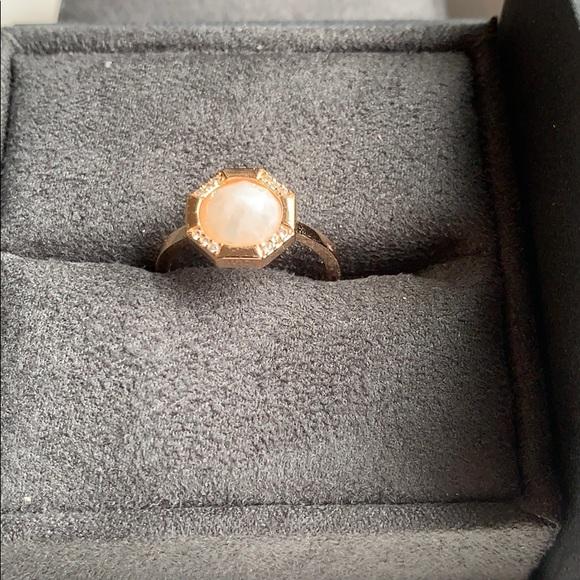 Melanie Auld Octagonal Moonstone Ring